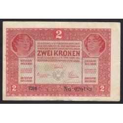 2 kronen/korona 1917 - A széria ívszéllel