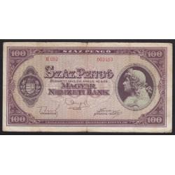 100 pengõ 1945 - LEMEZHIBA NÉLKÜL