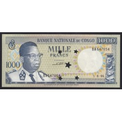 1000 francs 1964