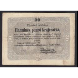 30 pengõ krajczárra 1849