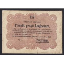 15 pengõ krajczárra 1849