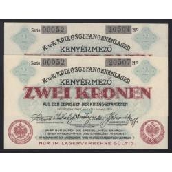 2 korona/kronen 1916 - Kenyérmezõ 2x