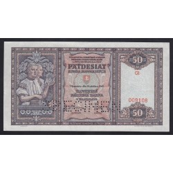 50 korun 1940 - SPECIMEN