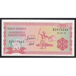 20 francs 1991