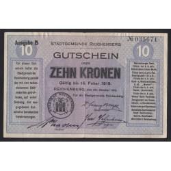 10 kronen 1919 - Reichenberg