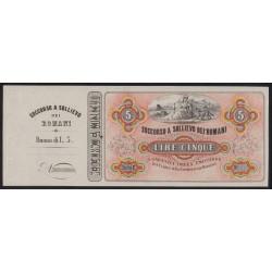 5 lire 1867