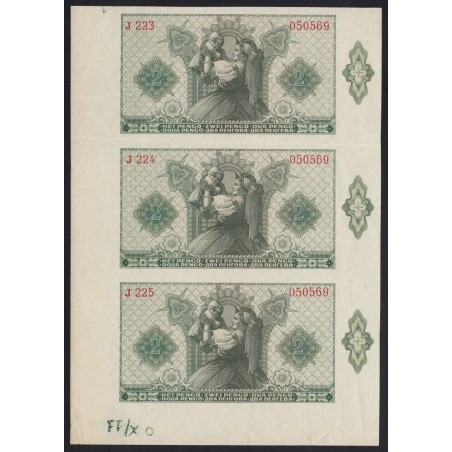2 pengõ 1940 - 3 darabos ívtöredék