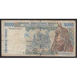 5000 francs 1996 - Ivory Coast