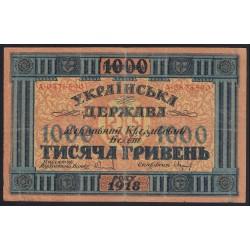 1000 hryven 1918