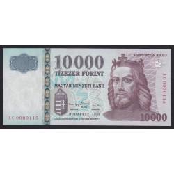 10000 forint 1999 - ALACSONY SORSZÁM