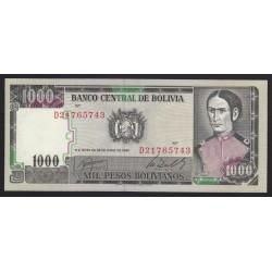 1000 bolivianos 1982