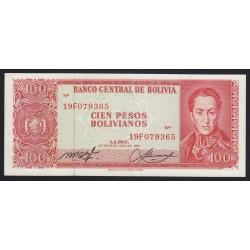 100 bolvianos 1962