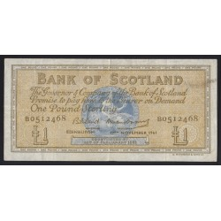 1 pound 1961 - Bank of Scotland