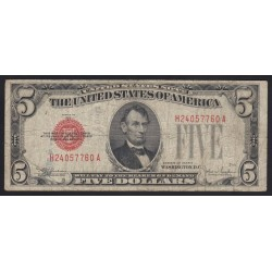 5 dollars 1928