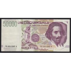 50000 lire 1992