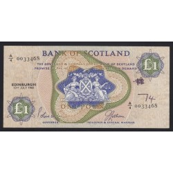 1 pound 1963 - Bank of Scotland