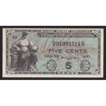5 cents 1951 - Military Payment Certificate