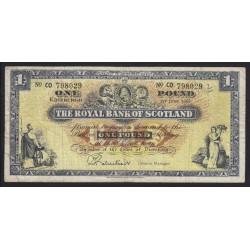 1 pound 1966 - Royal Bank of Scotland
