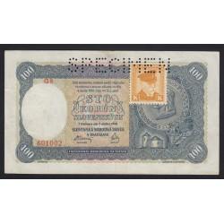 100 korun 1940 - SPECIMEN