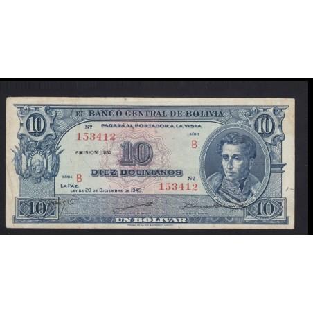10 bolivianos 1945