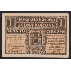 1 krone 1919 - TESCHEN