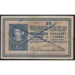 25 kronen/korona 1918 - Érvénytelenített