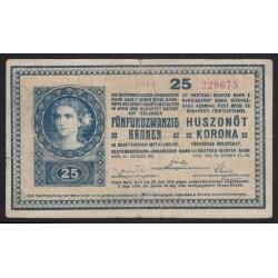 25 kronen/korona 1918