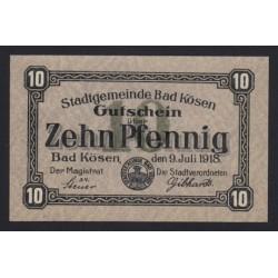 10 pfennig 1918 - Bad Kösen