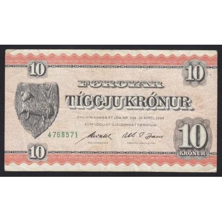 10 kronur 1949