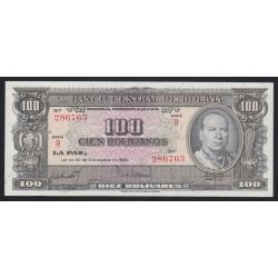 100 bolivaros 1945