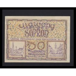 50 fillér 1919 - Sopron