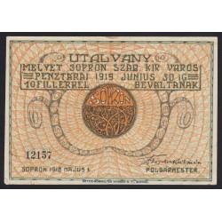 10 fillér 1919 - Sopron