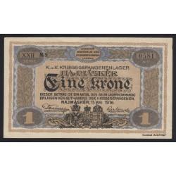 1 kronen/korona 1916 - Hajmáskér