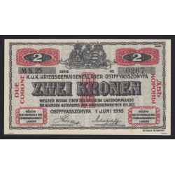 2 krone/korona 1916 - Ostffyasszonyfa