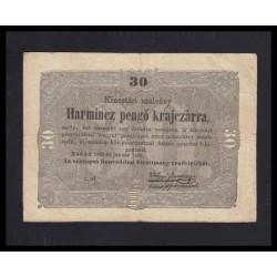30 pengõ krajcárra 1849