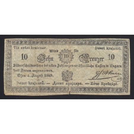 10 krajcár 1849