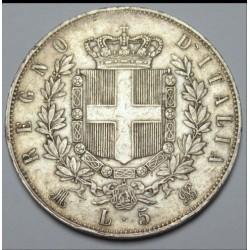 5 lire 1875