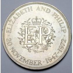 25 pence 1972 - II. Elisabeth and Phillip