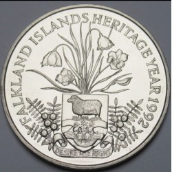 2 pounds 1992 - Falkland heritage year