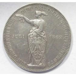 1 thaler 1862 - Frankfurt