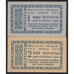 Mauthner bõrgyár 1919 - 1-2 korona 2x