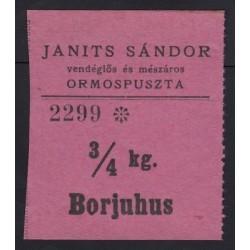 3/4 kg borjuhus - Janits sándor Ormospuszta