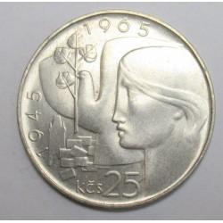 25 korun 1965 - Liberation of Czechoslovakia