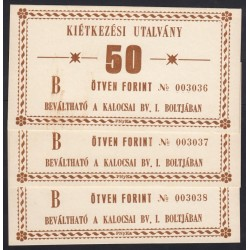 50 forint 1990 - Kalocsai börtön 3x