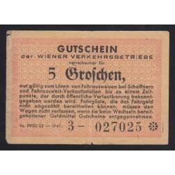5 groschen 1947 - Wiener Verkehrbetriebe