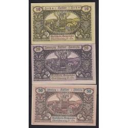 Eberschwang 10-20-50 heller 1920 3x