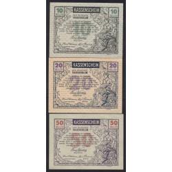 Tausendblum 10-20-50 heller 1920 3x