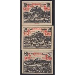 Salzburg 10-20-50 heller 1920 3x
