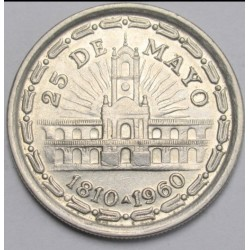 1 peso 1960 - 150th anniversary of the Revolution of May