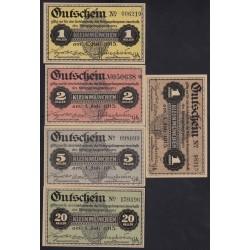 1heller-1krone 1915 - Kriegsgefangenenlager Kleinmünchen 5x